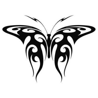Tribal Butterfly Tramp Stamp Tattoo