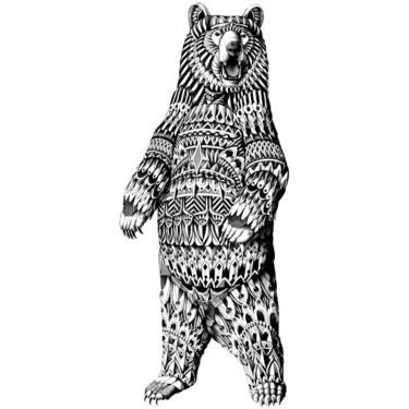 Detailed Big Bear Tattoo