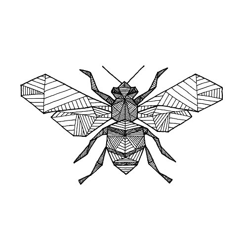 Geometric Bee Tattoo Design