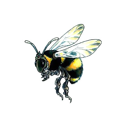 Little Bumble Bee Tattoo Design