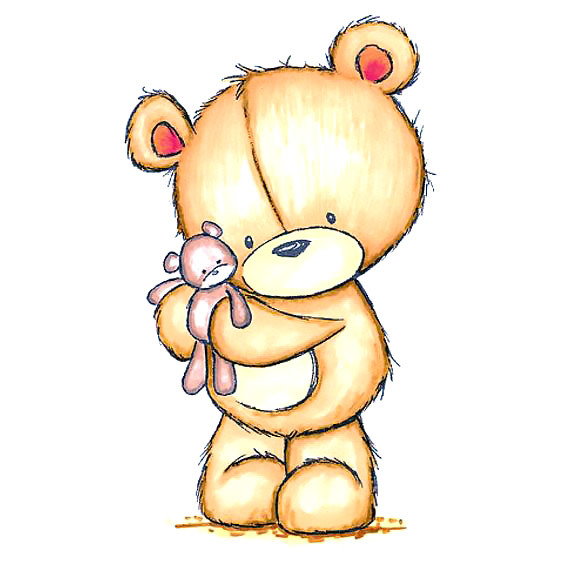 Cute Teddy Bear Tattoo Design