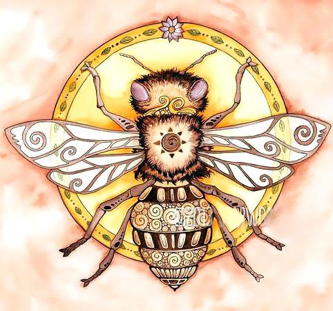 Queen Bee Tattoo Design