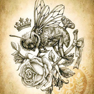 Queen Bee and Rose Tattoo
