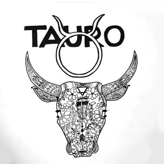 Taurus Bull Head Tattoo Design