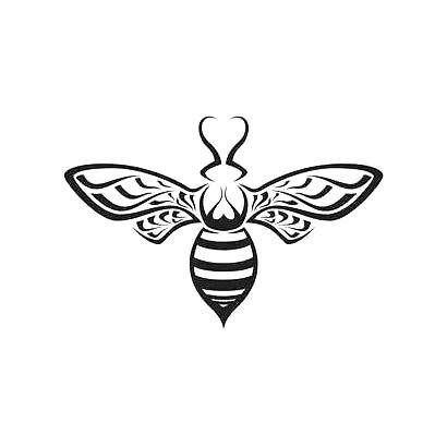 Tribal Bee Tattoo Design