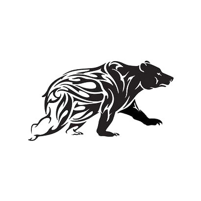 Big Tribal Bear Tattoo Design