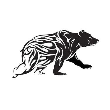 Big Tribal Bear Tattoo