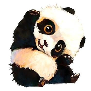 Cute Little Panda Bear Tattoo