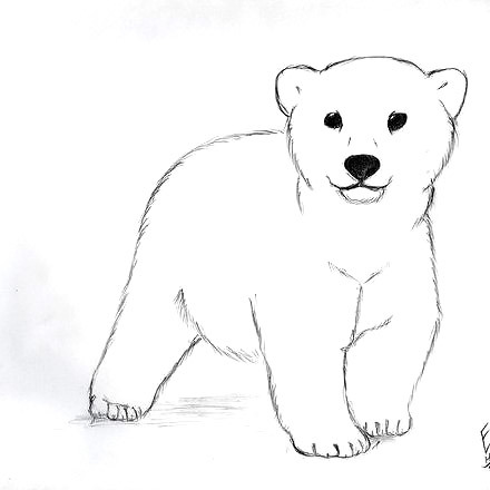 Cute Little Polar Bear Tattoo Design