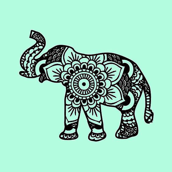 Elephant Mandala Tattoo Design