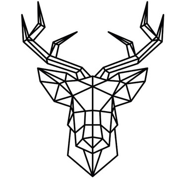 Geometric Deer Head Tattoo
