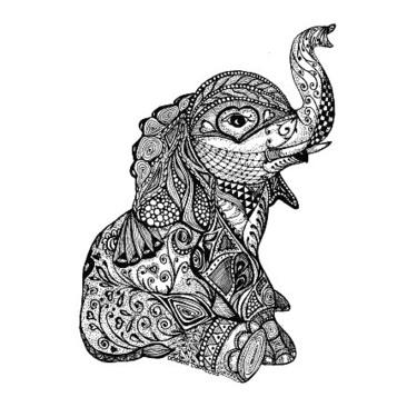 Hindu Baby Elephant Tattoo