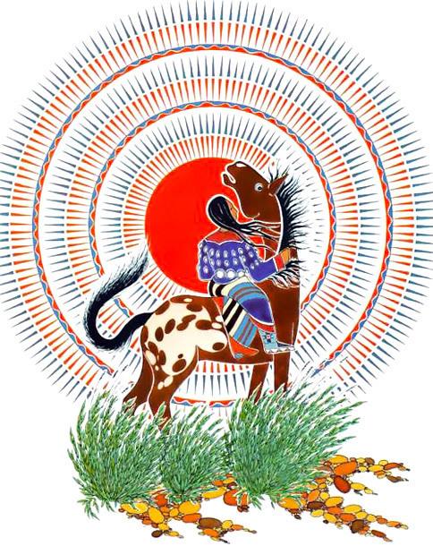 Indian Horse Mandala Tattoo Design