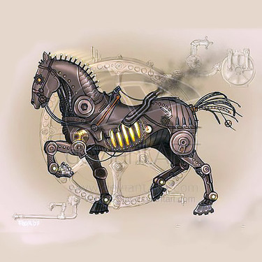 Steampunk Iron Horse Tattoo