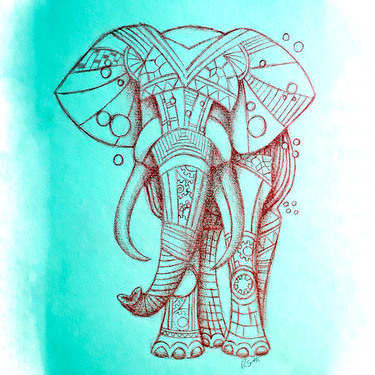 Steampunk Elephant Tattoo