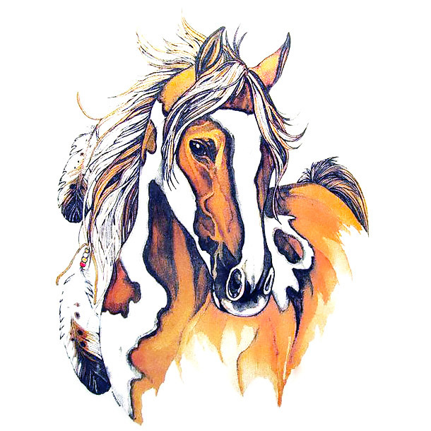 Realistic Indian Horse Tattoo Design