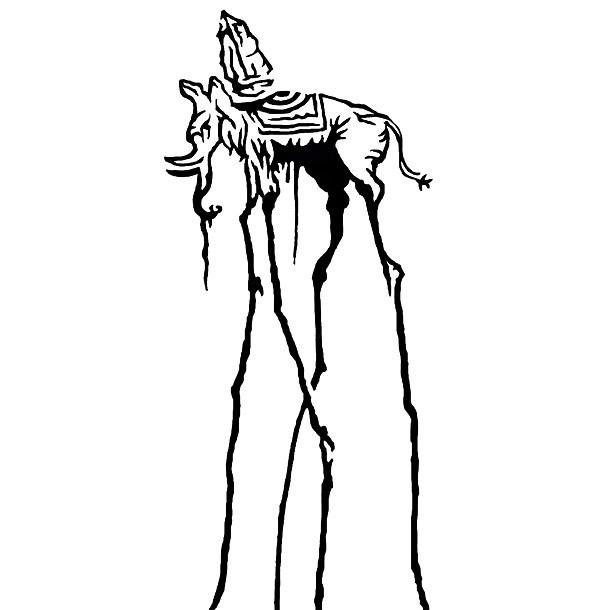 Salvador Dali Elephant Tattoo Design
