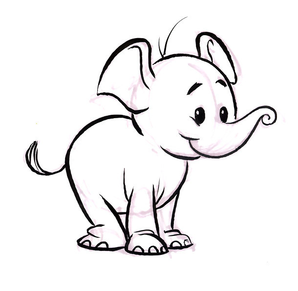 Small Elephant Tattoo Design