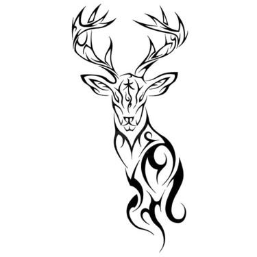 Tribal Deer Tattoo