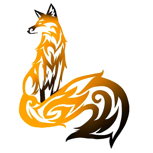 Tribal Fox Tattoo Design