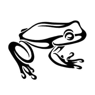 Tribal Frog Tattoo