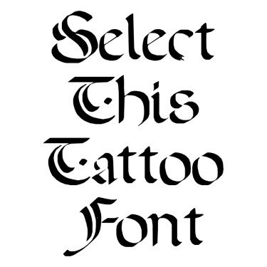 A Dark Wedding Tattoo Font