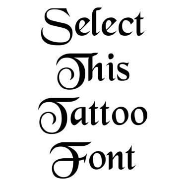 BLKCHCRY Tattoo Font