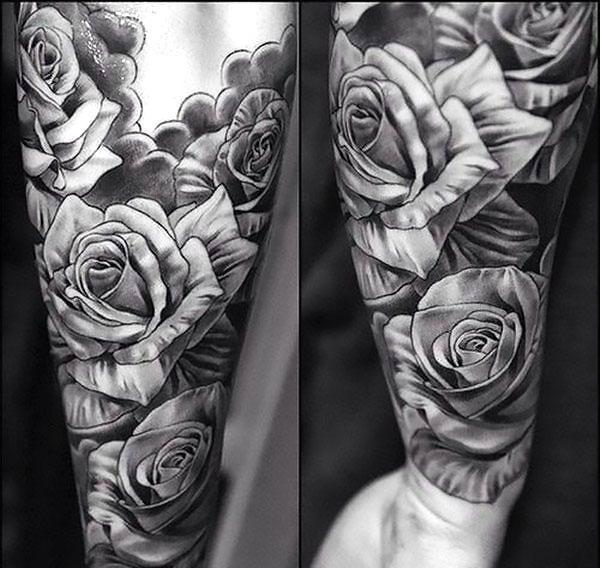 Black and Gray Tattoo for Men Tattoo Idea