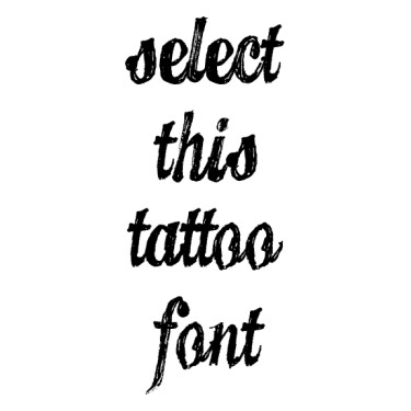 CANDY Tattoo Font
