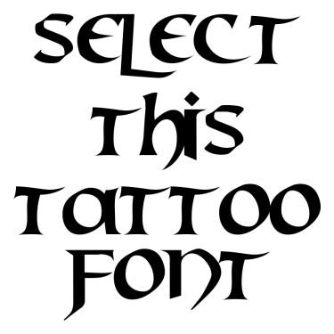 Mael Tattoo Font