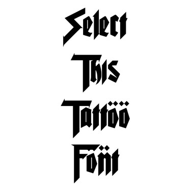 Puree Tattoo Font