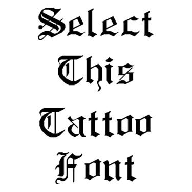 Rm Albion Tattoo Font