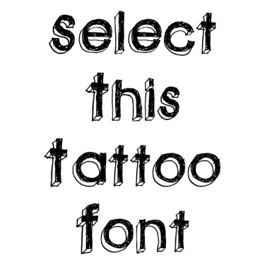 GREENPIL Tattoo Font