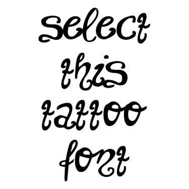 Unchanged Tattoo Font