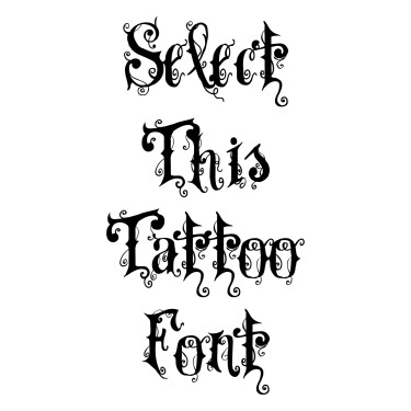 Vtks Dear Love Tattoo Font