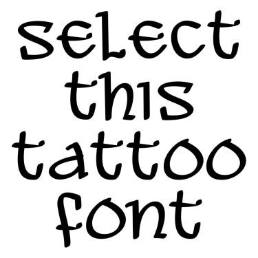 ALEAWB Tattoo Font