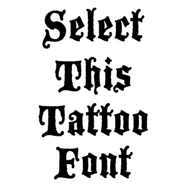 Blackwood Castle Tattoo Font