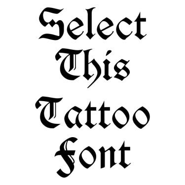 Durwent Tattoo Font
