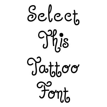 Jandles Tattoo Font
