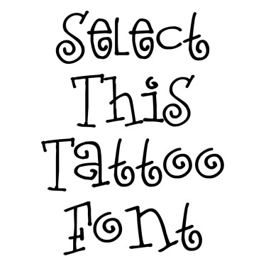Loveletters Tattoo Font