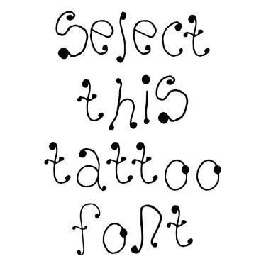 Melanie Tattoo Font