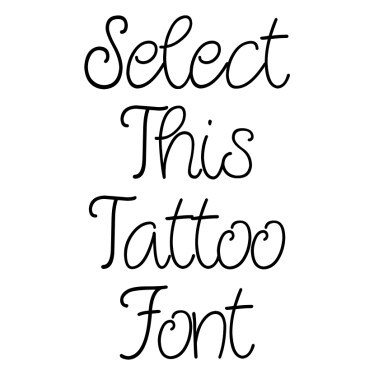 Quirlycues Tattoo Font