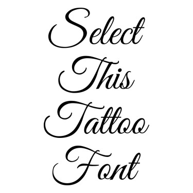Great Vibes Tattoo Font