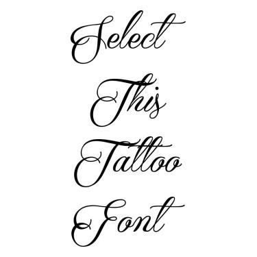 Qaskin Black Tattoo Font