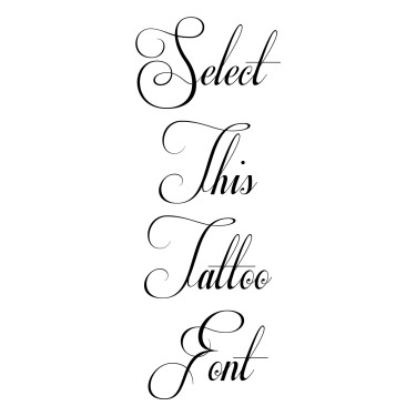 Respective Tattoo Font