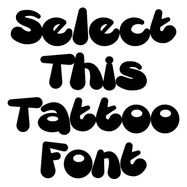 Comic Tattoo Font