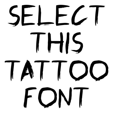 Graffiti Paint Brush Tattoo Font