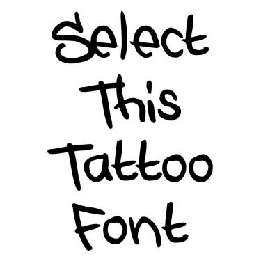 STYLEWARS Tattoo Font