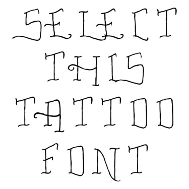 Fancy Tattoo Script Tattoo Font