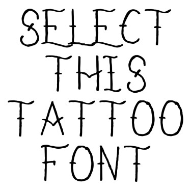 I Refuse To Sink Tattoo Font